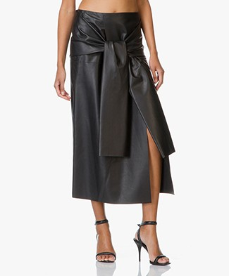 Joseph Butter Leather Silvie Skirt - Black
