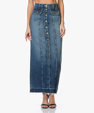 Current/Elliott The Sally Denim Maxi Rok