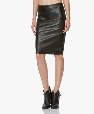 no man's land Faux Leather Pencil Skirt - Black