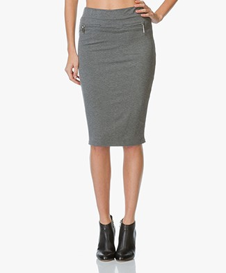 Josephine & Co Jente Jersey Pencil Skirt - Anthracite