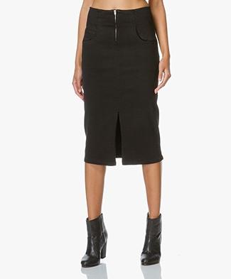 Closed Black Denim Midi Skirt Drum - Black