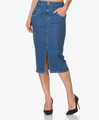 Closed Drum Denim Pencil Skirt - Dark Salt'n