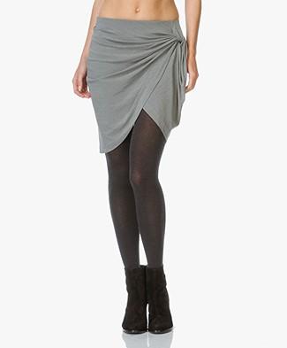 IRO Ranelle Wrap Skirt - Steel Grey