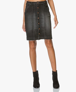 Denham Bo Denim Skirt - Grey