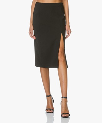 T by Alexander Wang Pencil Skirt with Slit - Black