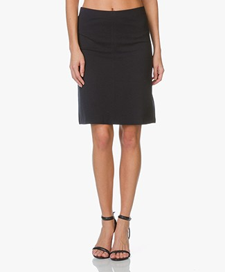 Filippa K Clean Jersey Skirt - Navy