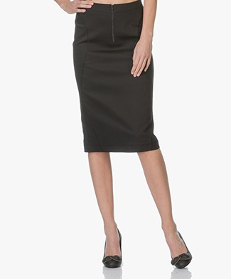 Drykorn Tency Jersey Skirt - Black