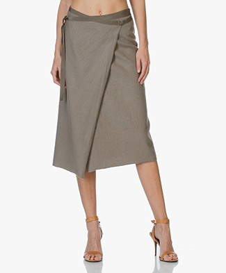Majestic Linen Wrap Skirt