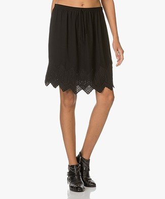 IRO Hari Skirt with Embroidered detailing - Black