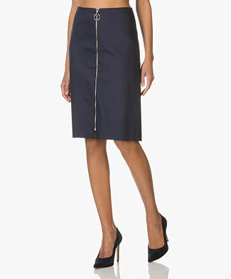 Drykorn A-line Skirt Roxy in Cotton - Dark Blue