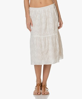 Drykorn Fina Embroidered Skirt - Off-white