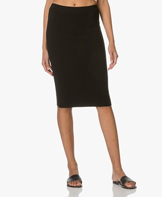 Sibin/Linnebjerg Greta Merino-knit Pencil Skirt - Black