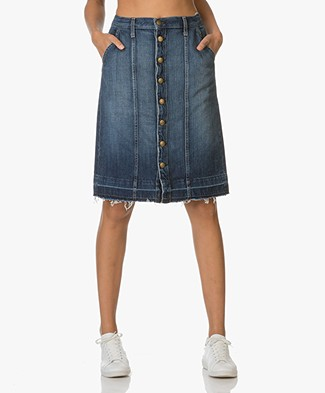 Current/Elliott The Short Sally Denim Skirt - Loved Released