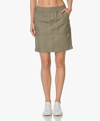 Closed Sandy Skirt in Linen and Cotton