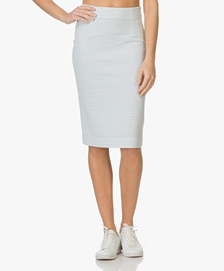 Josephine & Co Elina Jersey Skirt - Light Blue/White Stripes
