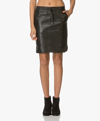 BY-BAR Spring Leather Skirt - Black
