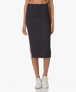 HUGO Nimy Jersey Pencil Skirt - Dark Blue