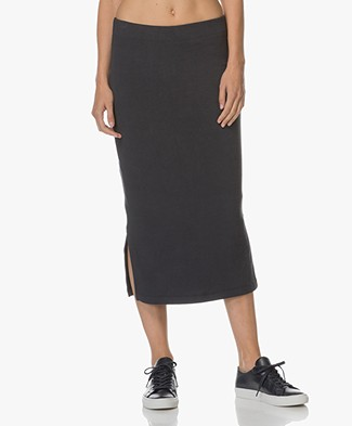 BRAEZ Ultra Soft Jersey Pencil Skirt - Midnight Blue