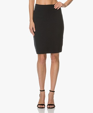 Kyra & Ko Leila Jersey Pencil Skirt - Navy