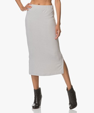 BRAEZ Ultra Soft Jersey Pencil Skirt - Grey