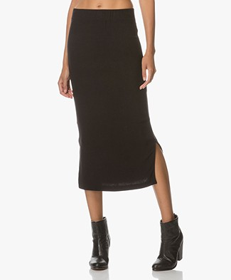 BRAEZ Ultra Soft Jersey Pencil Skirt - Black