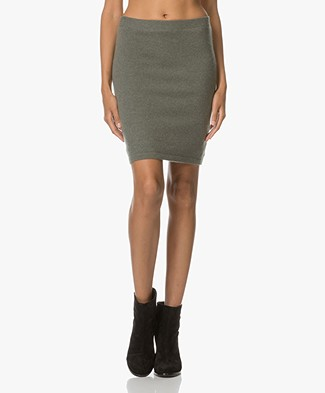 Repeat Cashmere Knitted Skirt - Khaki