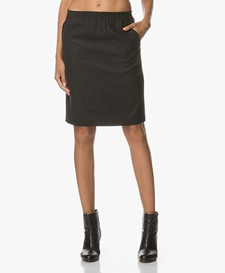 Drykorn Janice Viscose Blend Knee-length Skirt - Anthracite