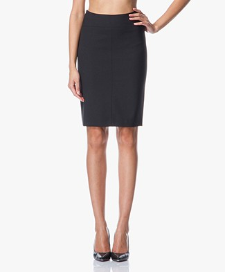 Drykorn Marta Basic Pencil Skirt - Black