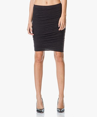 Velvet Larsa Skirt in Soft Slub-Jersey