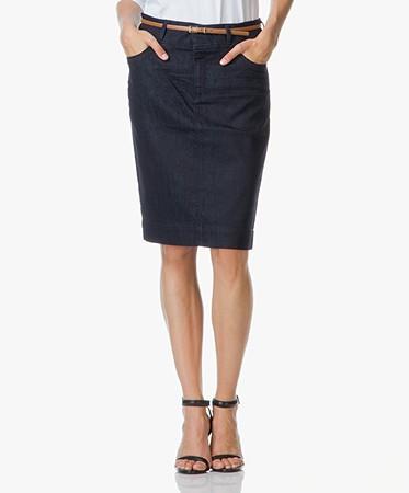 BOSS Nelana Jeans Skirt in Cotton Stretch - Navy - nelana 410 navy ...