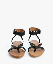 Filippa K Coral Low Strappy Sandalen - Zwart