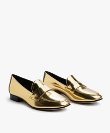 Diane von Furstenberg Lafayette Loafers - Gold Metallic Nappa