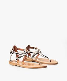 K. Jacques St. Tropez Buffon Printed Leather Sandals - Horsy Zebre
