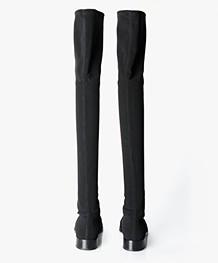 Panara Knie Hoge Stretchlaarzen - Zwart