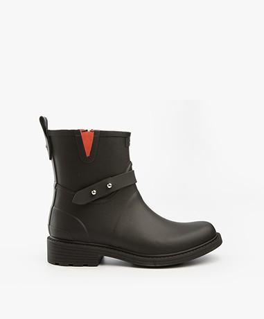 Rag & Bone Moto Rain Boots - Black