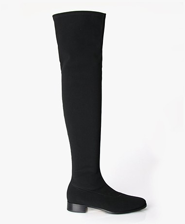 Panara Over the knee Stretch Boots Black v2141 nero