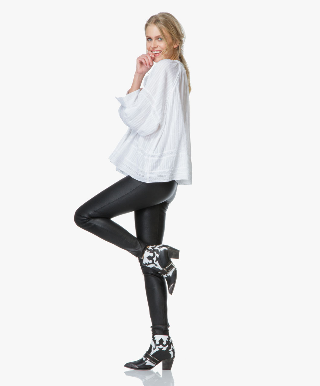 White Platform Ankle Boots Boots Image