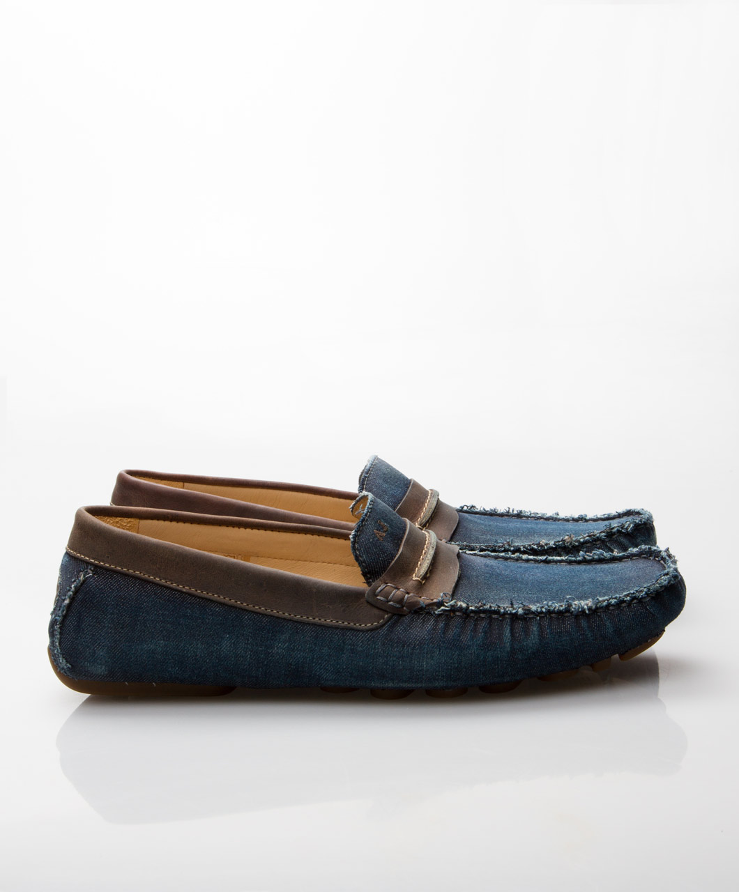 Мокасины из джинсы