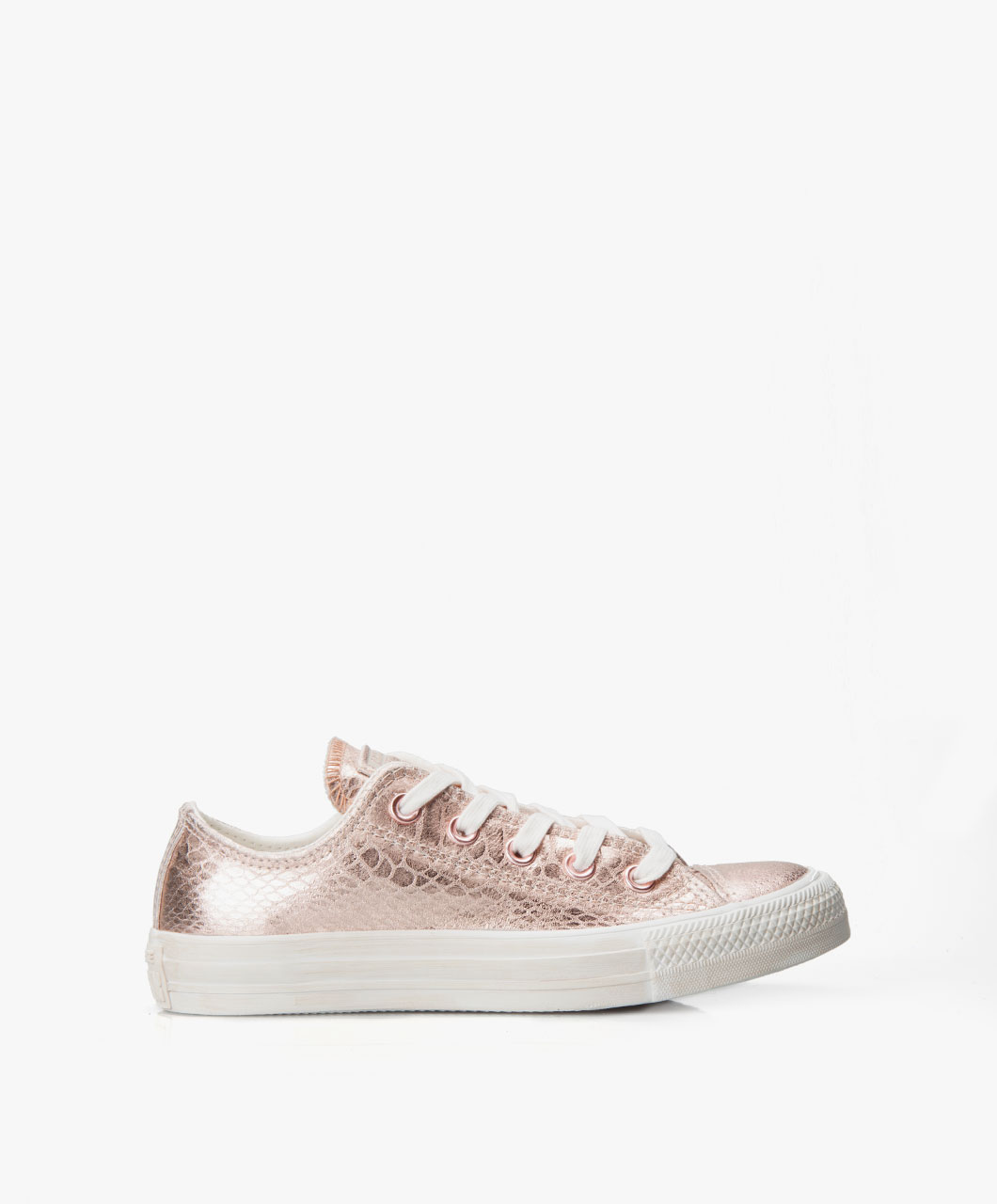 8066623bff8 Converse All Star Ox Metallic Rose • Rosé Gold White