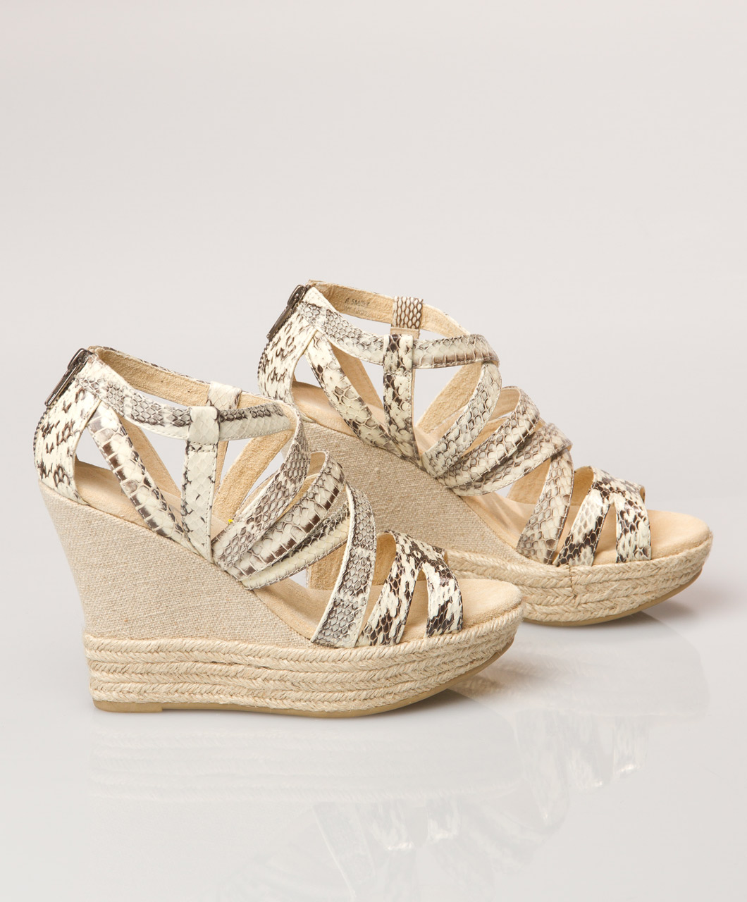 DKNY Kendra Espadrille Wedges - Natural