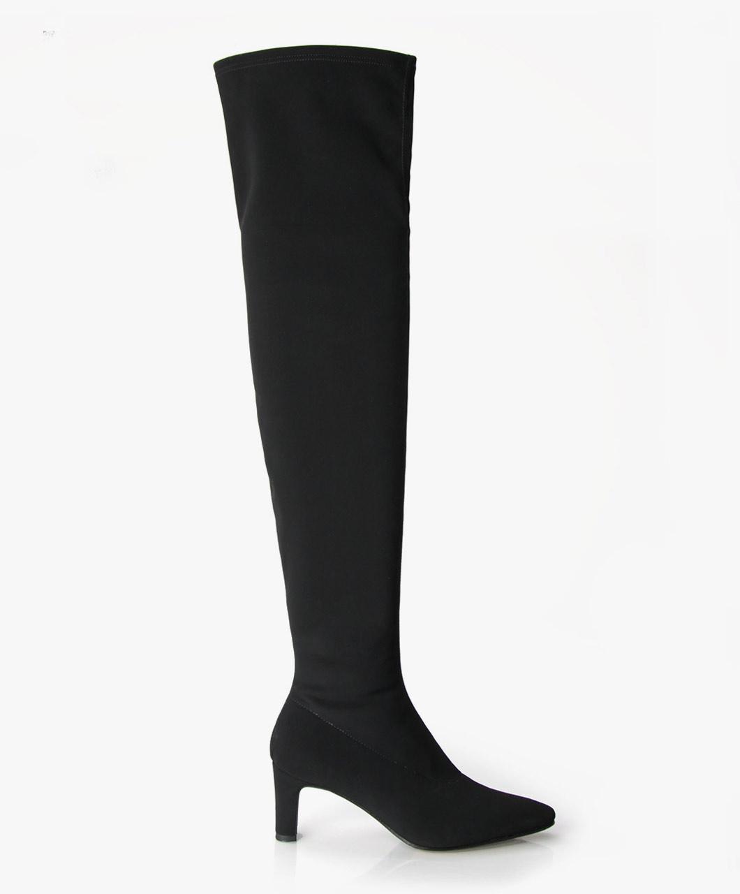 Zwarte stretch laarzen