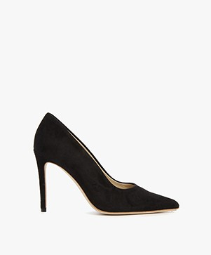 Feraggio Suede Pumps - Deep Black