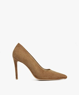 Feraggio Suède Pumps - Camel Brown