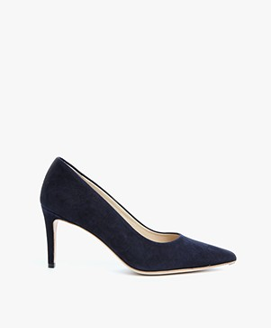 Feraggio Suede Pumps Low - Midnight Blue