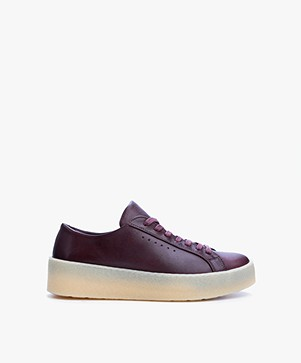 Filippa K Kate Crepe Sneakers - Burgundy
