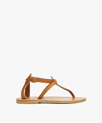 K. Jacques St. Tropez Buffon Leather Sandals - Natural