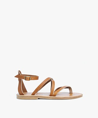 K. Jacques St. Tropez Epicure Leather Sandals - Natural