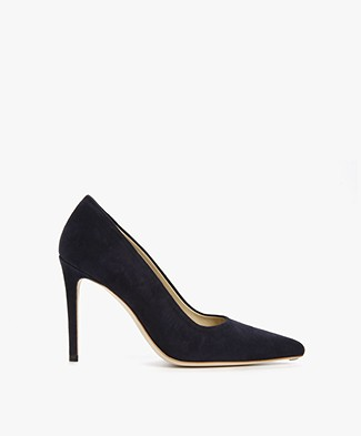 Feraggio Midnight Blue Suède Pumps