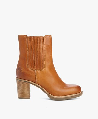 Shabbies Heeled Chelsea Ankle Boots - Curry