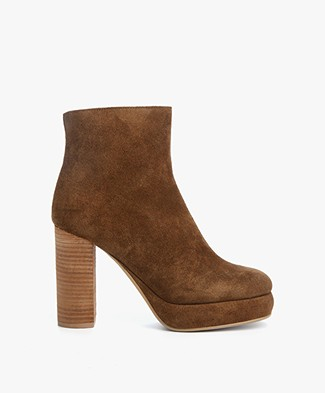 See by Chloé Crosta Jeans Bootie - Brown/Whiskey